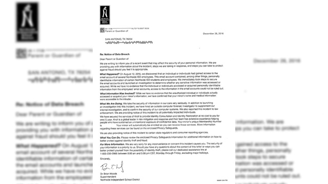 Letter notifies NISD employees, students of email breach