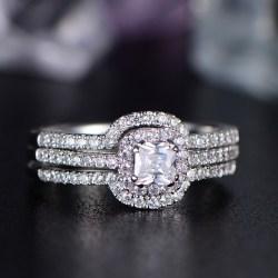 Small Of Asscher Cut Engagement Rings