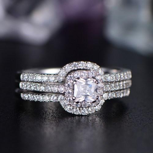 Medium Of Asscher Cut Engagement Rings
