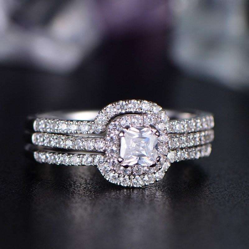 Large Of Asscher Cut Engagement Rings