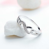 925 Sterling Silver Round Cut White Sapphire Promise Rings ...