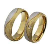 Round Cut White Sapphire Titanium Steel Silver Gold ...