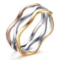 Titanium Silver Gold Rose Gold Promise Rings For Her ...