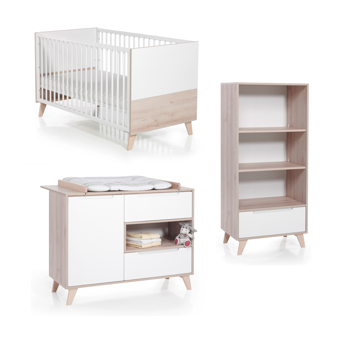 Chambre Bebe Trio Geuther Chambre Trio Lit Commode And Étagère Haute