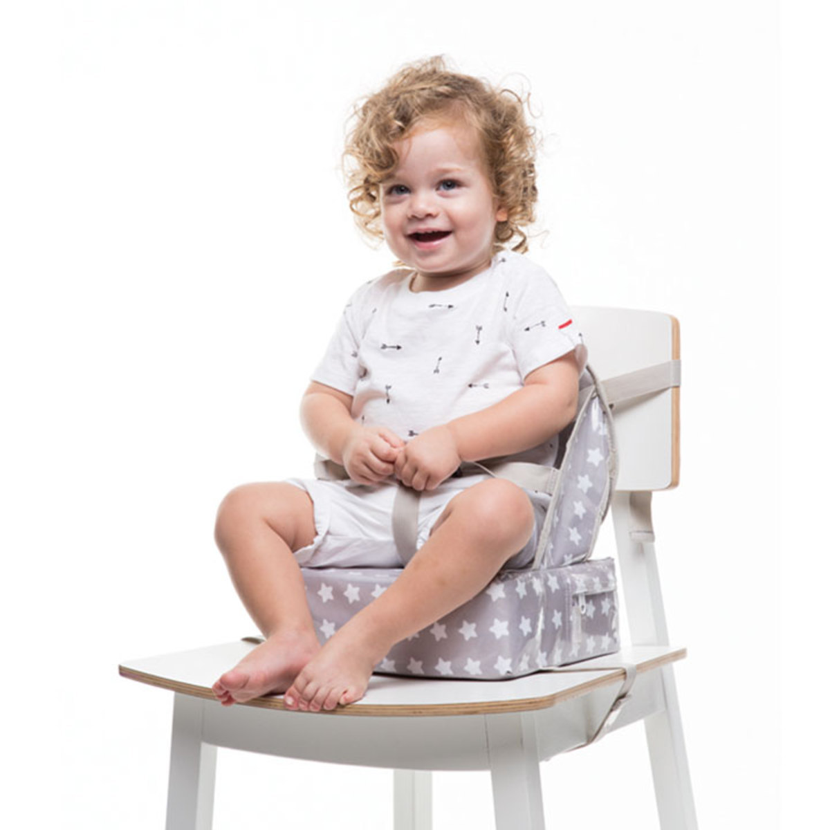 Chaise Nomade Bébé Rehausseur Easy Up Pour Chaise White Stars