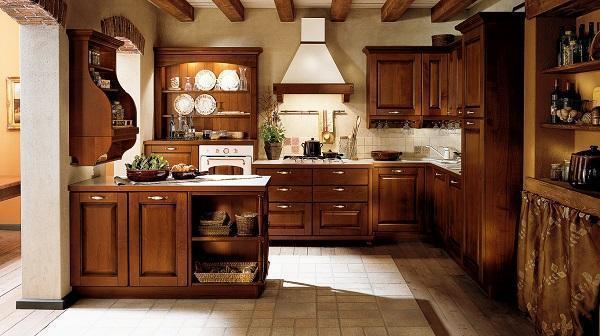 Cucina Classica In Legno Massiccio Ciliegio