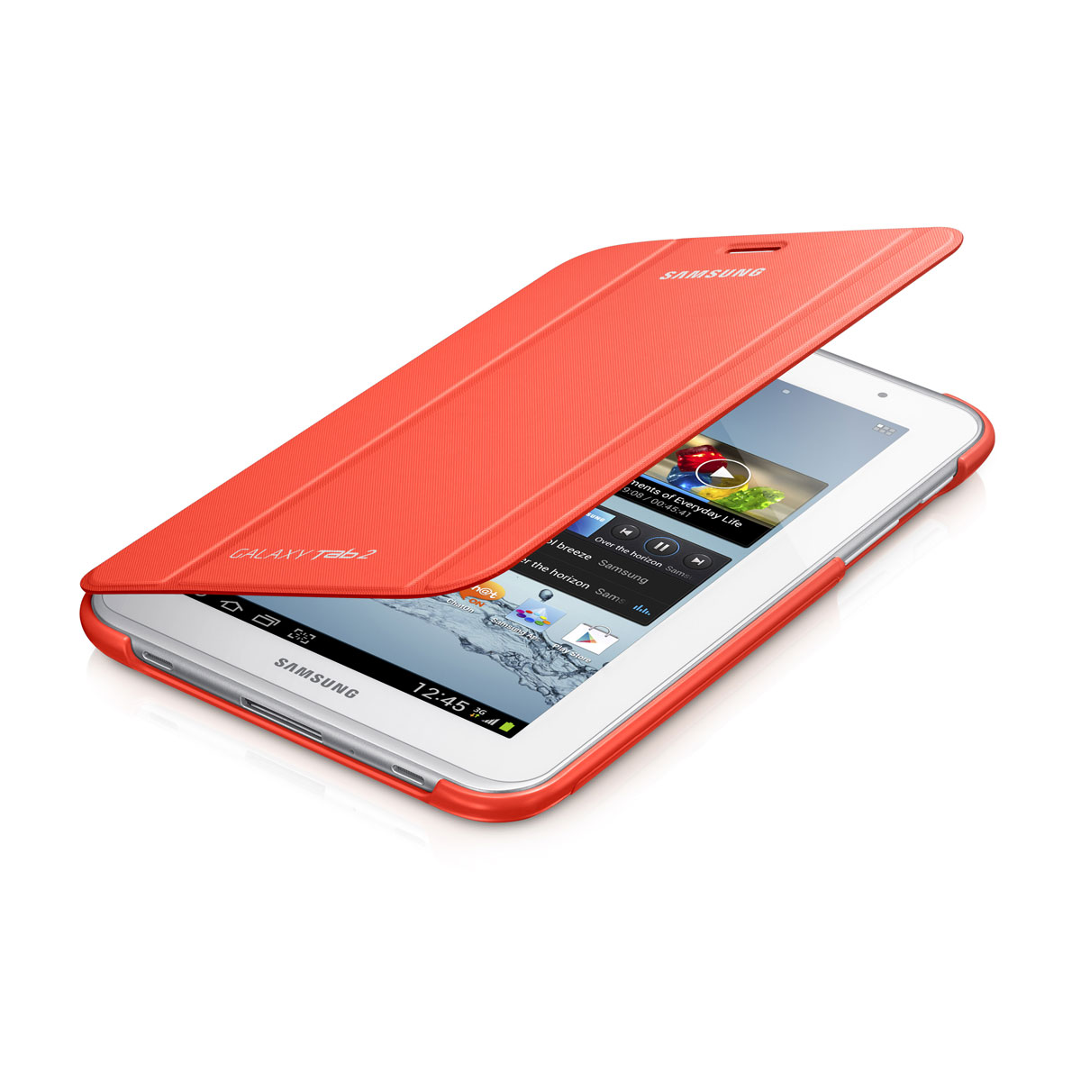 Etui Tablette Samsung Book Cover Orange Pour Samsung Galaxy Tab 2 7
