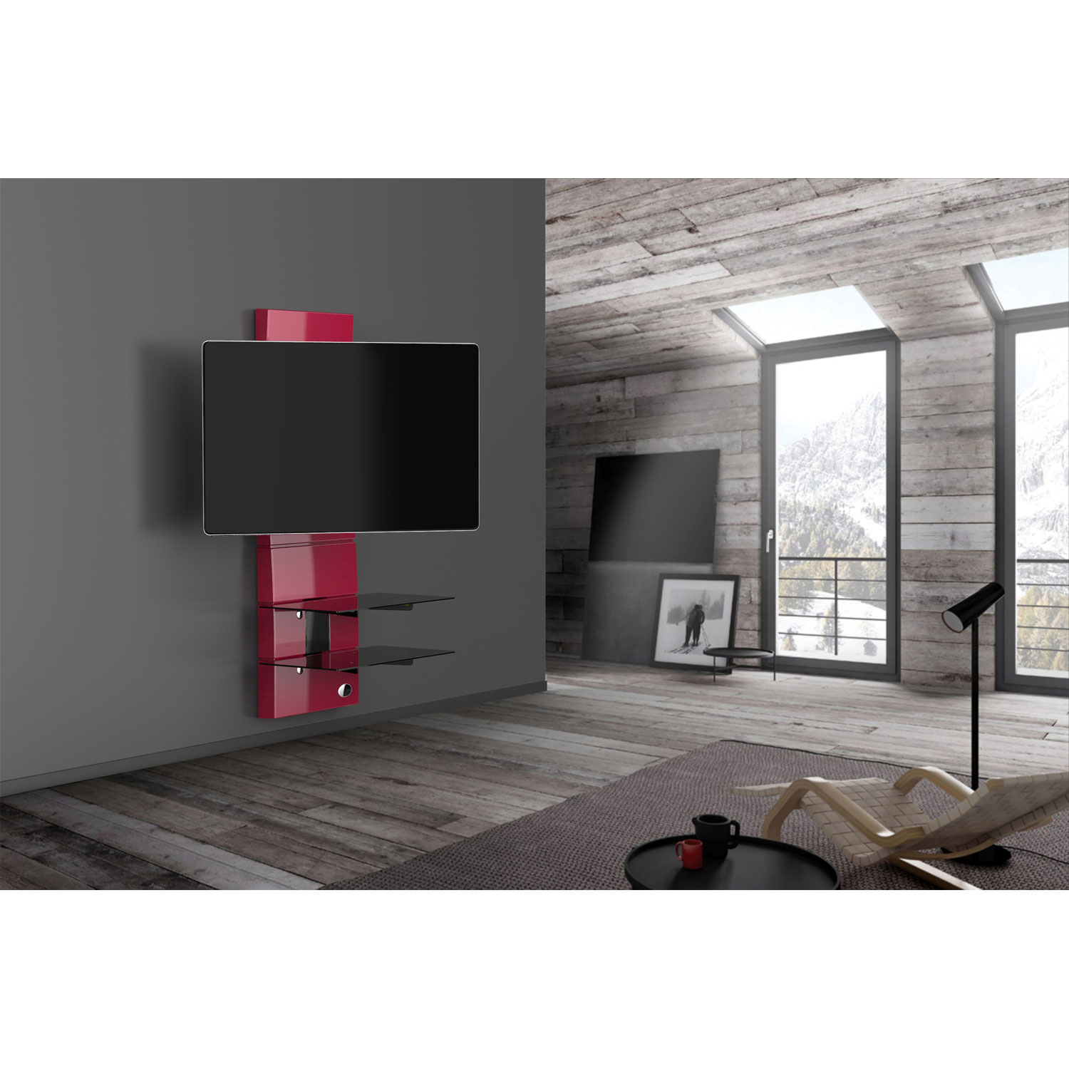 Meuble Tv Rouge Design Meliconi Ghost Design 3000 Rotation Rouge Meuble Tv