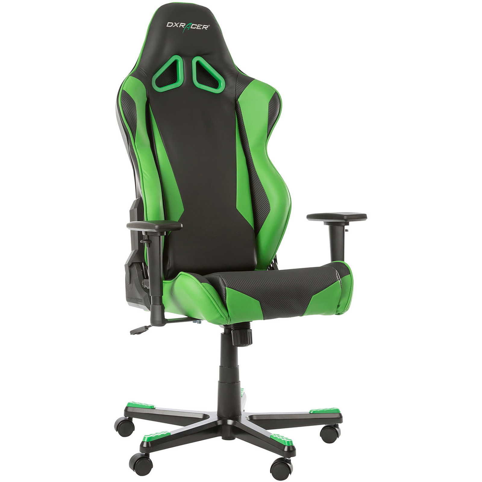 Chaise Gaming Oraxeat Dxracer Racing Led Shield Vert Fauteuil Gamer Dxracer