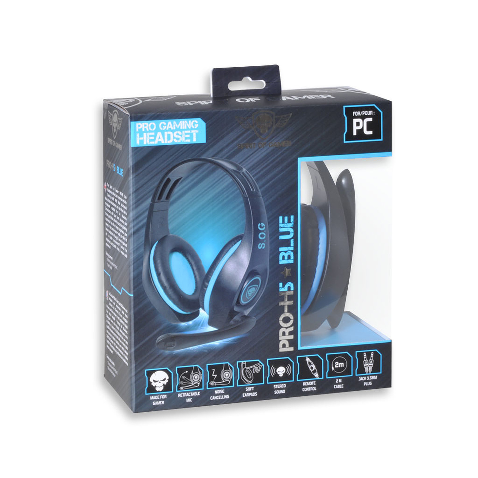 Enceinte De Bureau Spirit Of Gamer Pro-h5 (bleu) - Micro-casque Spirit Of