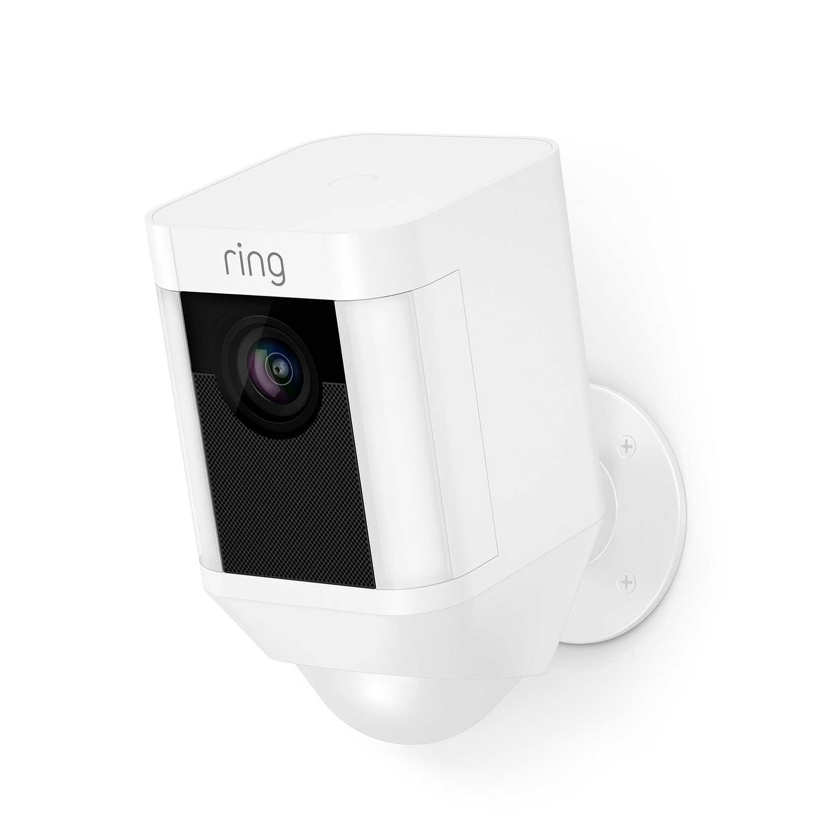 Camera De Surveillance Exterieur Wifi Avec Batterie Ring Spotlight Cam Battery Blanc