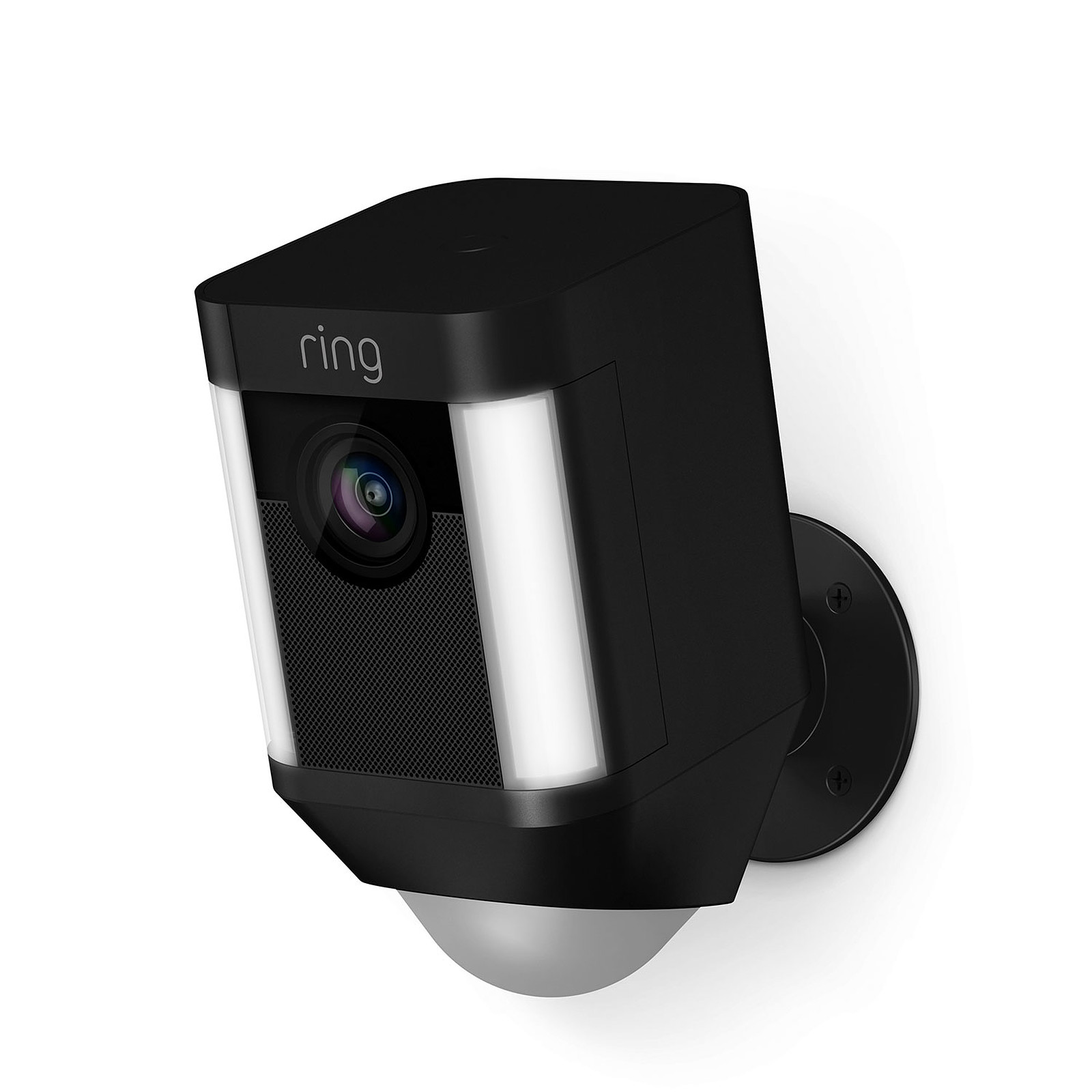 Camera De Surveillance Exterieur Wifi Avec Batterie Ring Spotlight Cam Battery Noir