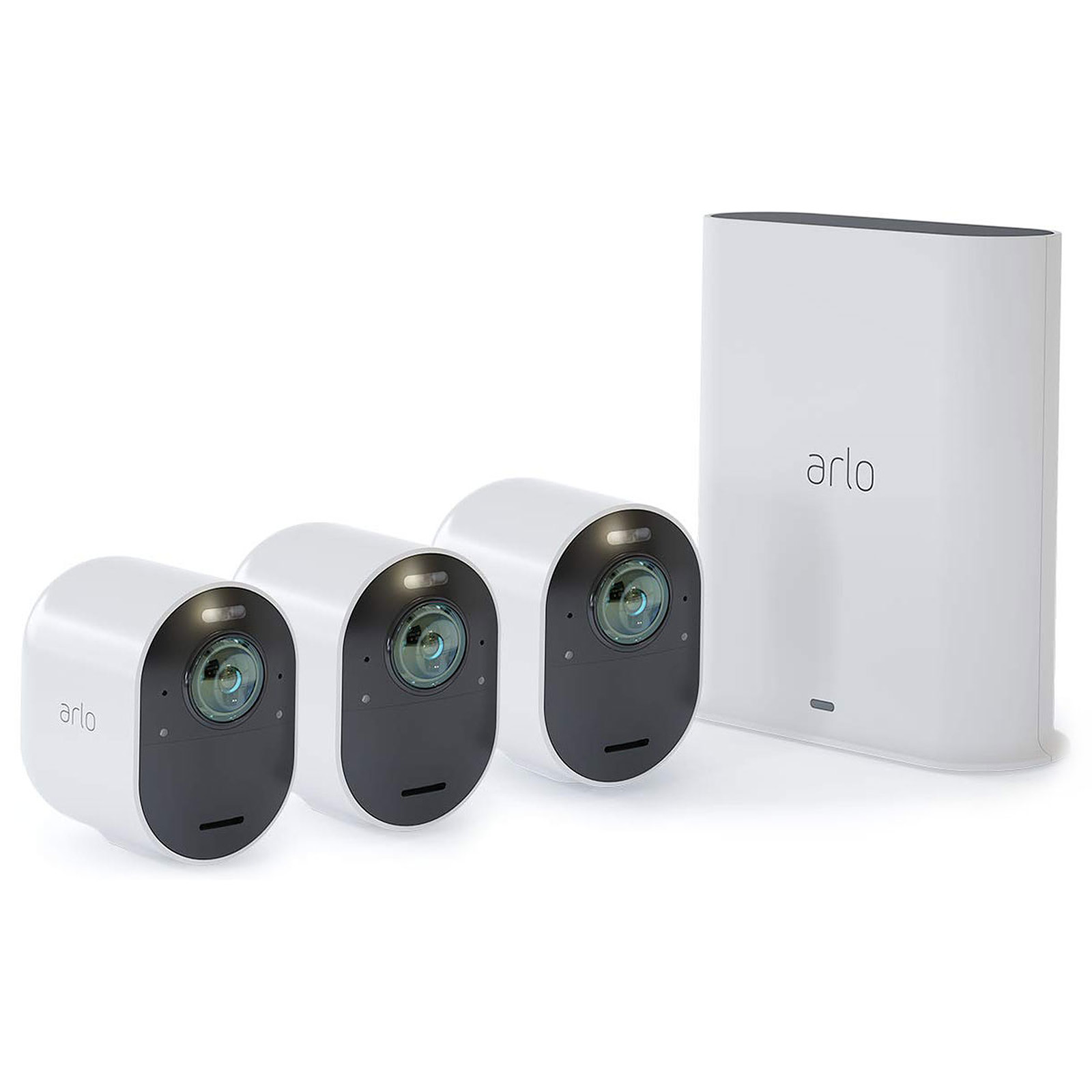 Camera Surveillance Exterieur Sans Fil Autonome Amazon Arlo Ultra Pack 3 Smart Caméra