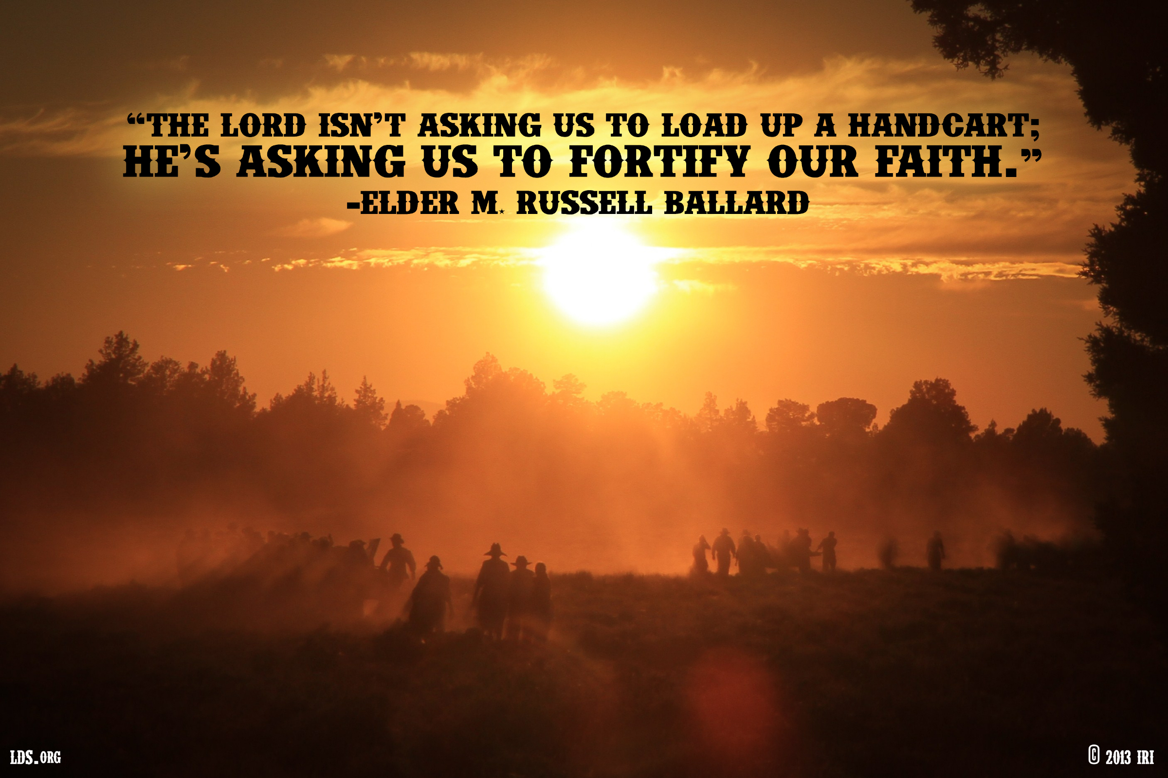 Lds Quote Wallpaper Fortify Your Faith