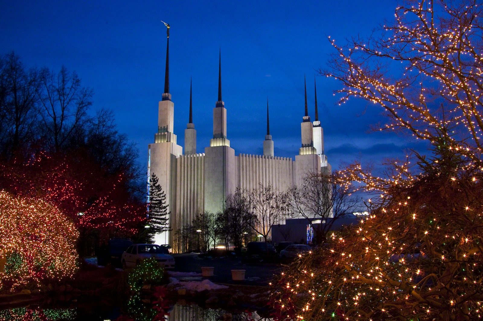 Temple Quotes Wallpaper Pc Hd Washington D C Temple At Christmas