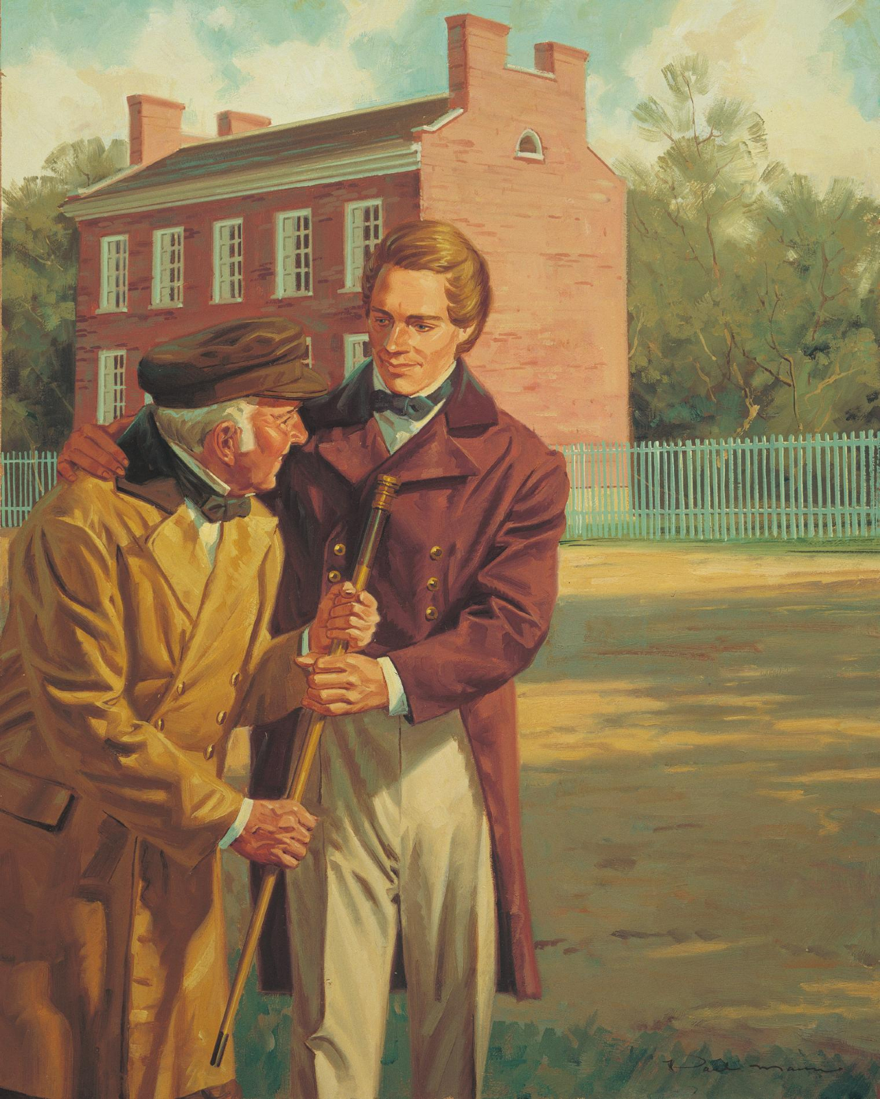 God Related Quotes Wallpaper Joseph Smith Giving His Cane To Joseph Knight Sr