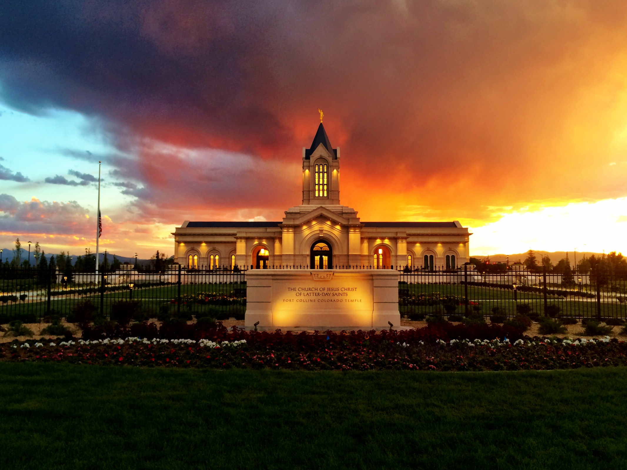 Quality Quotes Wallpaper Fort Collins Temple At Sunset