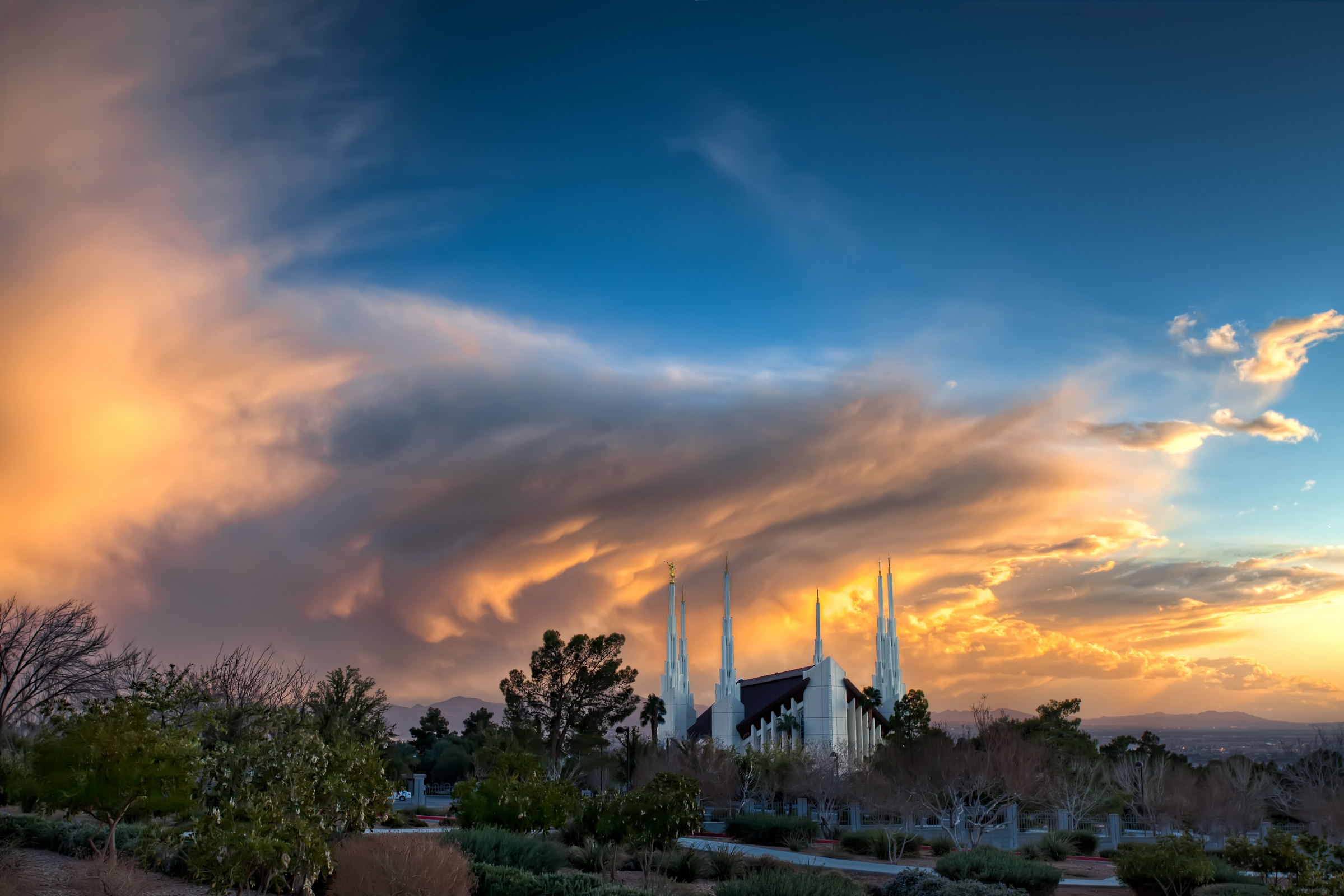 Temple Quotes Wallpaper Pc Hd Las Vegas Nevada Temple At Sunset