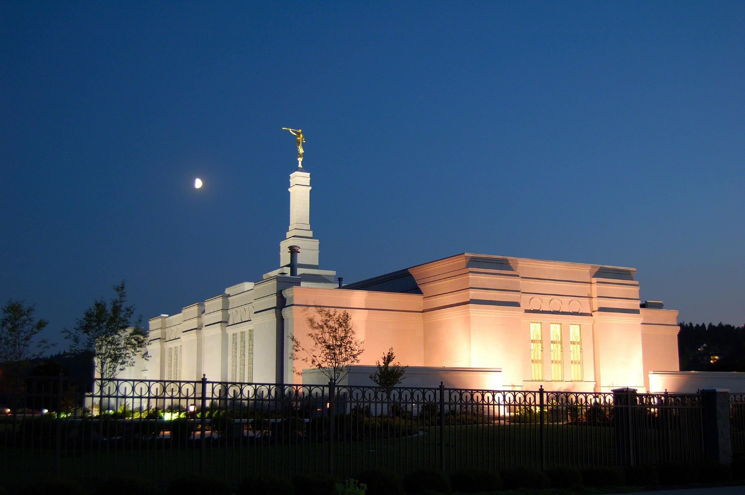 Mobile Wallpaper Inspirational Quotes Spokane Washington Temple In The Evening