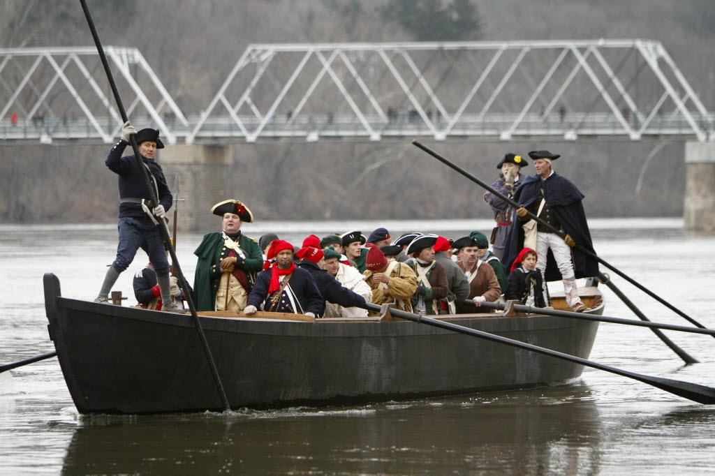 High water dampens re-enactment of George Washington\u0027s Delaware