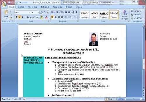 logiciel cv lettre motivation gratuit telecharger