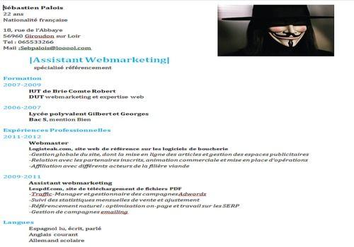 site internet cv etudiant