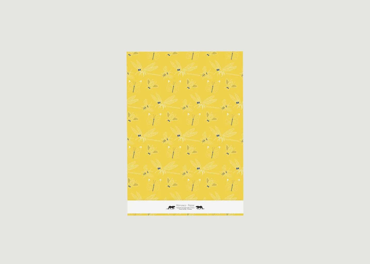 A3 Papier Large Carnet Libellules A3 Jaune Monsieur Papier Lexception
