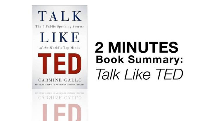 2 Minutes Book Summary Talk Like TED