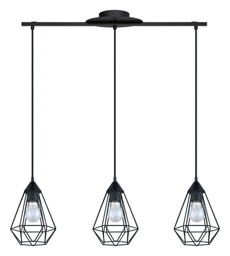 Eglo Verlichting Made Eglo 94189a Tarbes 3 Light 6 Inch Matte Black Multi Light