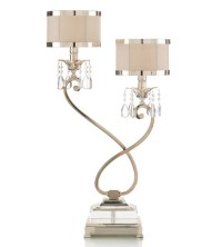 Alexander John 30 inch 60 watt Silver Buffet Lamp Portable ...