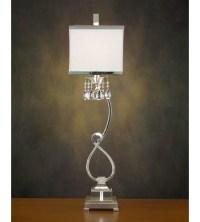 John Richard Alexander John 1 Light Buffet Lamp in Silver ...