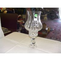 crystal hurricane lamp (candle holder)