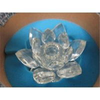 Swarovski crystal -flower crystal candle holder