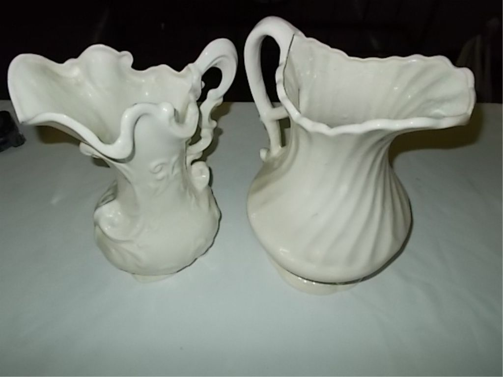 Water Pitcher Ceramic 2 Ceramic White Water Pitchers