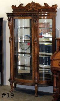 Antique Curio Cabinets With Curved Glass  Cabinets Matttroy