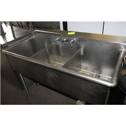 Triple Commercial Sink Stainless W Grease Trap