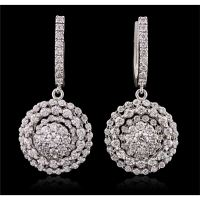 14KT White Gold 2.48ctw Diamond Earrings