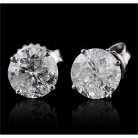 14KT White Gold 2.31ctw Diamond Earrings