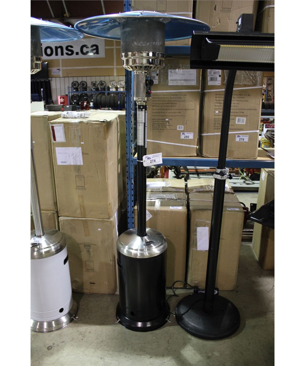 Paramount Black Propane Patio Heater Able Auctions