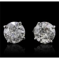 14KT White Gold 1.97ctw Diamond Earrings