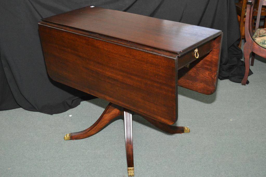 Antique Drop Leaf Table With Claw Feet