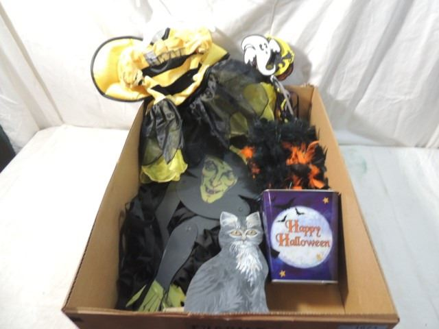 Huge Box Lot Halloween Decorations