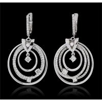 14KT White Gold 1.74ctw Diamond Earrings