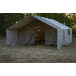 12x14 Camouflage Wall Tent With Porch