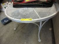 Metal patio table - used