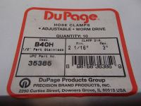 DuPage, Adjustable Worm Drive Hose Clamps, B40H