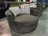 STYLUS GREEN UPHOLSTERED NEST CHAIR WITH 2 THROW CUSHIONS ...