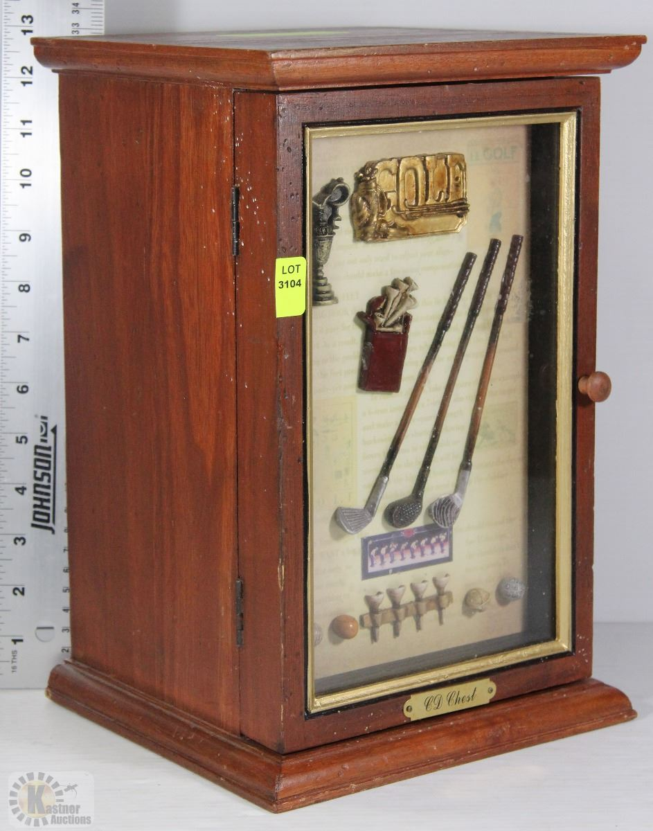 Golf Shadow Box Cabinet Kastner Auctions