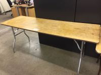 6 X 2 FT FOLDING BANQUET TABLE - Able Auctions