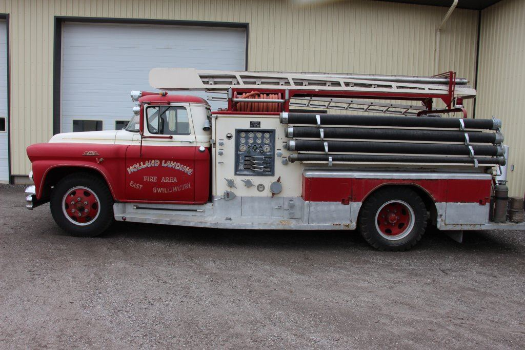 1958 Gmc Ladder Fire Truck This Was A Former Holland